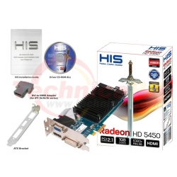 HIS HD 5450 PCI-E 1GB 64bit DDR3 VGA Card