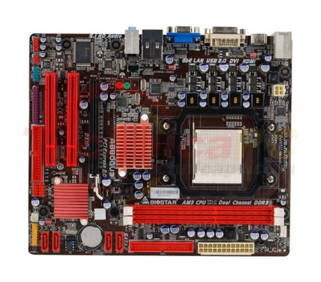 Biostar A880GU3 Socket AM3 Motherboard