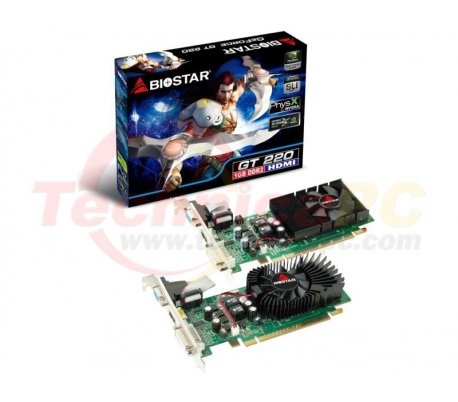 Biostar NVIDIA Geforce GT220 1024MB DDR2 PCI-E 128 bit VGA card