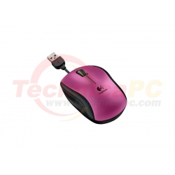 Logitech M125 Pink USB Optical Wired Mouse