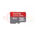 SanDisk HC Mobile Ultra Class 10 / U1 8GB Micro SD Card