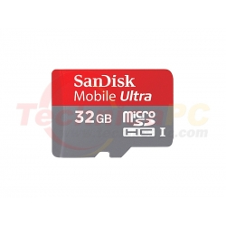 SanDisk HC Mobile Ultra Class 10 / U1 32GB Micro SD Card