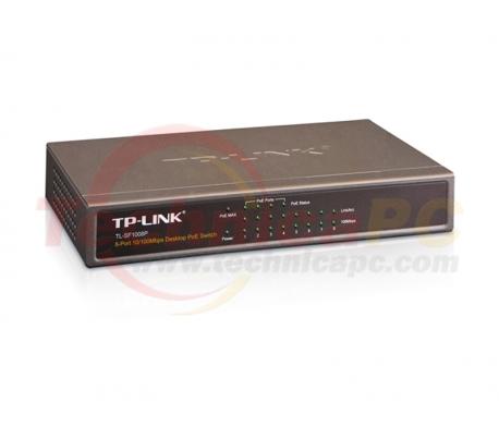 TP-Link TL-SF1008P 8Ports Desktop Switch 10/100