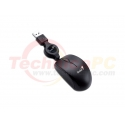 Genius Micro Traveler Track USB Optical Notebook Wired Mouse