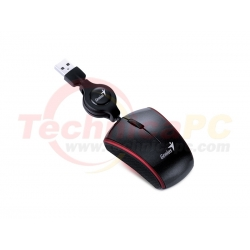Genius Micro Traveler 330S USB Optical Notebook Wired Mouse