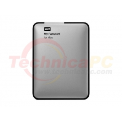 Western Digital My Passport Mac 500GB USB2.0 WDBL1D5000ABK HDD External 2.5""
