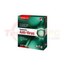 Kaspersky KAV6 6Months for 1Computer Anti Virus Software