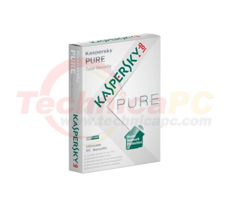 Kaspersky PURE for 3Computers Anti Virus Software