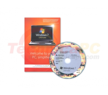 Windows 7 Home Ultimate 64-bit Microsoft OEM Software