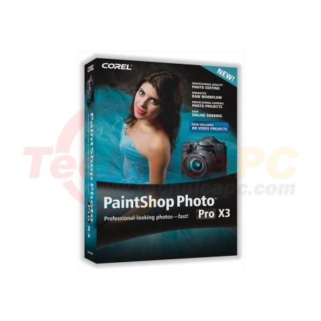 Corel PaintShop Photo Pro X3 Graphic Design Software