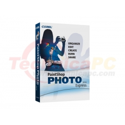 Corel PaintShop Photo Express 2010 Graphic Design Software