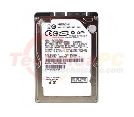 "Hitachi Travelstar 320GB SATA 5400RPM HDD Internal 2.5"""