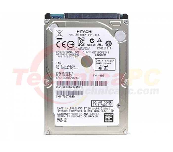 Hitachi Travelstar 1TB SATA 5400RPM HDD Internal 25