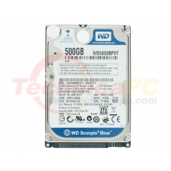 Western Digital Scorpio 500GB SATA WD5000BEVT/BPVT HDD Internal 2.5""