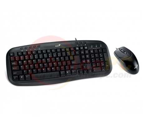 Genius KM-200 PS2 Wired Keyboard & Mouse Bundle