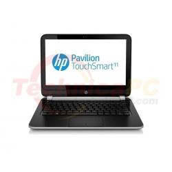 "HP Pavilion Touch Smart 11-E012AU AMD Dual Core 4-1250 APU 4GB 320GB 11"" Black Netbook Laptop"