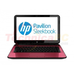 "HP Pavilion Sleekbook B015TU Intel Dual Core 987 2GB 500GB 14"" Red Notebook Laptop"