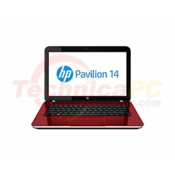 "HP Pavilion 14-E017TX Core i5-3230M 4GB 750GB 14"" Red Notebook Laptop"