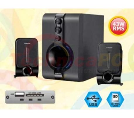 Simbadda CST 1800N 40W RMS SDCARD USB 2.1 Speaker