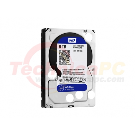 Western Digital Blue 6TB SATA3 WD60EZRZ HDD Internal 3.5""