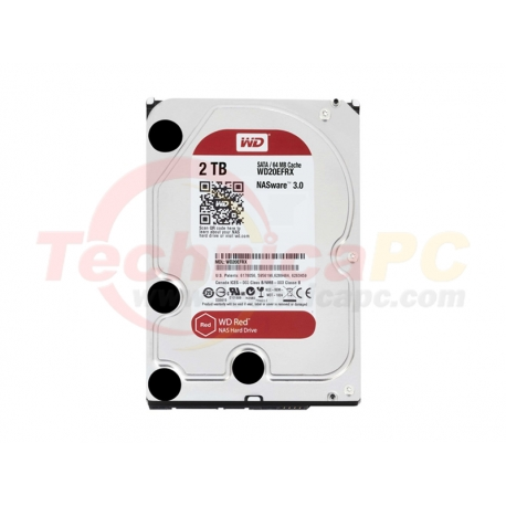 Western Digital Red 2TB SATA3 WD20EFRX HDD Internal 3.5""