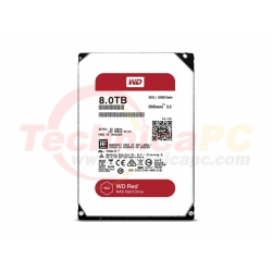 Western Digital Red 8TB SATA3 WD80EFRX HDD Internal 3.5""