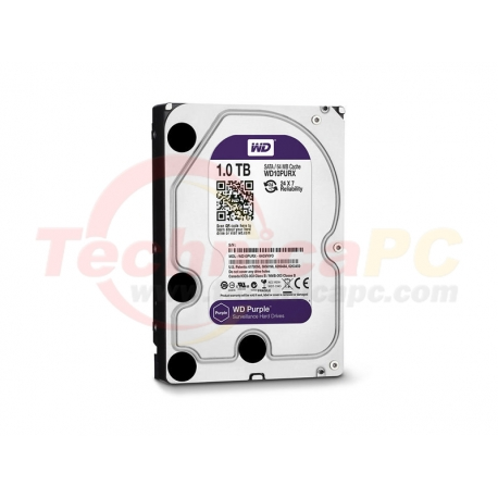 Western Digital Purple 1TB SATA3 WD10PURX HDD Internal 3.5""