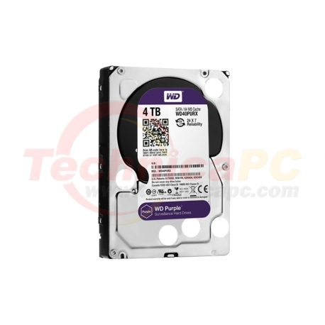 "Western Digital Purple 4TB SATA3 WD40PURX HDD Internal 3.5"""