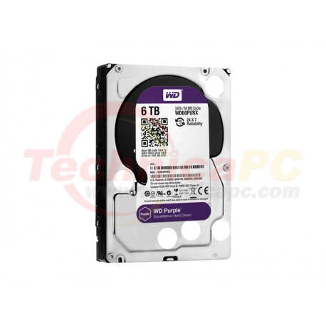 Western Digital Purple 6TB SATA3 WD60PURX HDD Internal 3.5""