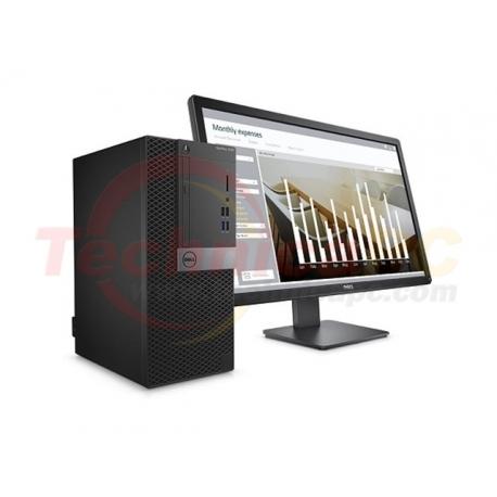 "DELL Optiplex 3050MT Core i5-7500 4GB 1TB Windows 10 Pro LCD 19.5"" Desktop PC"